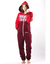 Jelen red - LIMITED EDITION Lazzzy® onesie premium