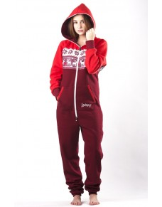 Winter red - LIMITED EDITION Lazzzy® onesie premium