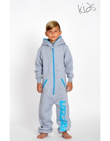 Metal grey - KIDS Lazzzy® onesie enfants premium