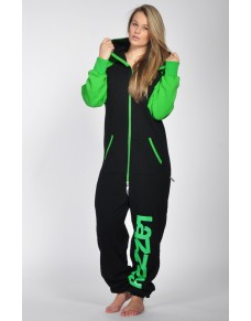 Black/Green - DUO Lazzzy® onesie premium