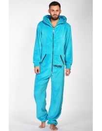 """Turquoise - teddy - Lazzzy® - """"Grenouillère adulte"""""""
