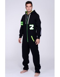 "Black/Acid green - Fashion - Lazzzy® - ""Combinaison ultra-confortable"""