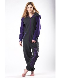 Graphite/purple - DUO Lazzzy® onesie premium