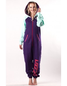 Purple/emerald - DUO Lazzzy® onesie premium