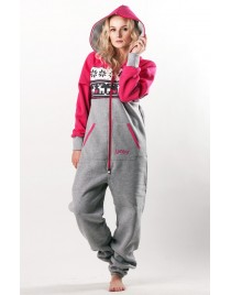 Winter pink - LIMITED EDITION Lazzzy® onesie premium